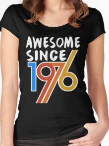 Awesome Since 1976 Shirt -  40th Birthday Gift Ideas Women's Fitted Scoop T-Shirt