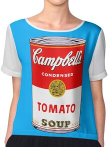 Campbell's Tomato Soup Can - Andy Warhol Chiffon Top