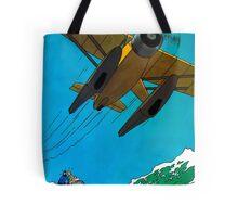 Tintin Airplane Print Tote Bag
