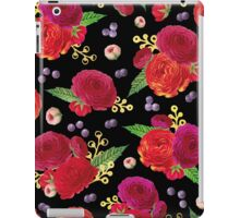 Winter Berry Floral Black iPad Case/Skin