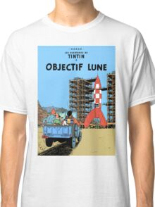 Tintin Destination Moon Cover Classic T-Shirt
