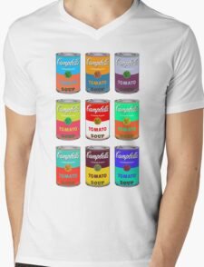 Andy Warhol Campbell's soup cans pop art Mens V-Neck T-Shirt