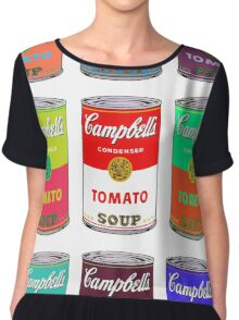 Andy Warhol Campbell's soup cans pop art Chiffon Top
