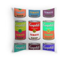 Andy Warhol Campbell's soup cans pop art Throw Pillow