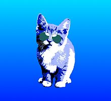 Chill Kitty (Blue) by James Hall