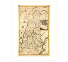 Map of the State of New Hampshire (1817) Art Print