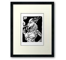 Goat Girl Framed Print