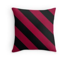 Columbia South Carolina Burgundy/Red & Black Sports Team Color Stripes Throw Pillow