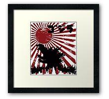 King  Kaiju Framed Print