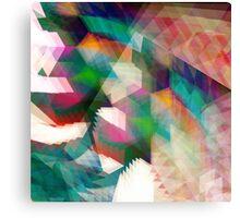 Futuristic Glitch Canvas Print