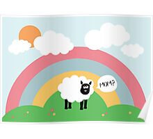 Confused sheep Poster