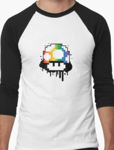 Rainbow Mushroom Men's Baseball ¾ T-Shirt
