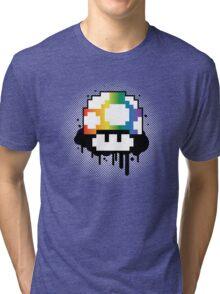 Rainbow Mushroom Tri-blend T-Shirt