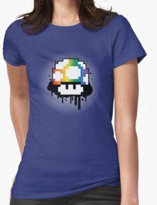 Rainbow Mushroom Womens Fitted T-Shirt