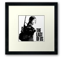 Ellie in the last of us Framed Print