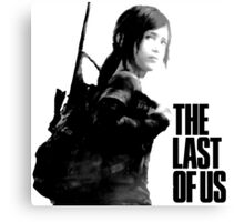 Ellie in the last of us Canvas Print