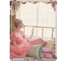 vintage woman on the bed  iPad Case/Skin