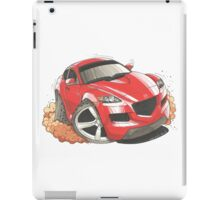 Mazda RX8 Caricature iPad Case/Skin