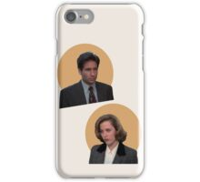 scully and mulder iPhone Case/Skin