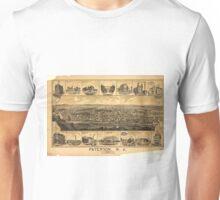 Vintage Pictorial Map of Paterson NJ (1880) Unisex T-Shirt