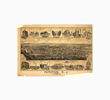 Vintage Pictorial Map of Paterson NJ (1880) Unisex T-Shirt