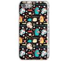 Seamless jolly pattern with monsters iPhone Case/Skin
