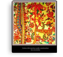 Indienne shirt Canvas Print