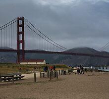 A Stroll by the Bridge by James Webb
