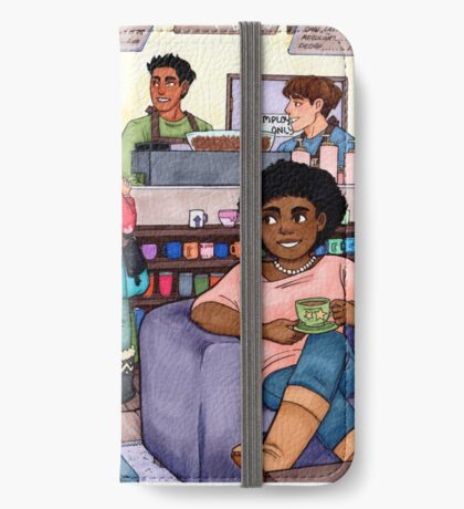 Coffee Shops and Saturdays iPhone Wallet/Case/Skin
