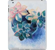 Pastel Succulents - an oil painting on canvas iPad Case/Skin