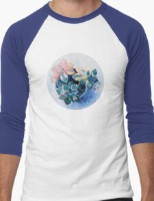 Pastel Succulents - an oil painting on canvas Men's Baseball ¾ T-Shirt