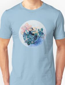 Pastel Succulents - an oil painting on canvas Unisex T-Shirt