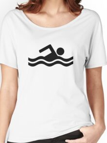 Swimming logo Women's Relaxed Fit T-Shirt