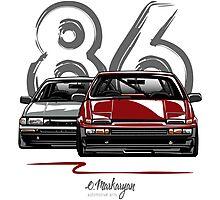 Toyota AE86 hachi roku Photographic Print