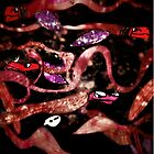 Dark underwater dragons print    by Sofijaolivera
