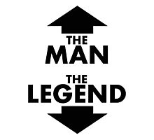 The Man The Legend Photographic Print