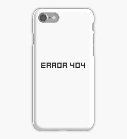 Error 404 Funny Cool Ironic Internet Joke iPhone Case/Skin