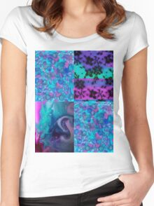 Abstract Collage 1 Women's Fitted Scoop T-Shirt
