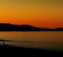 Sunset on Ireland's Wecklow Coast by Yukondick