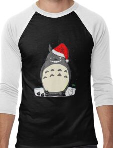 Totoro Christmas Santa Style Men's Baseball ¾ T-Shirt