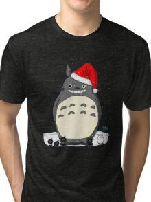 Totoro Christmas Santa Style Tri-blend T-Shirt