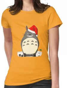 Totoro Christmas Santa Style Womens Fitted T-Shirt