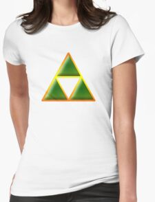 Triforce In Matrix Womens Fitted T-Shirt