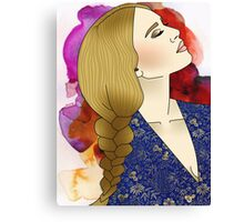 Painted Girl Canvas Print