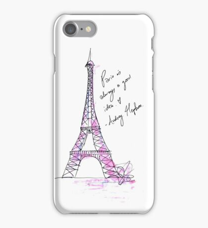 Hepburn's Paris iPhone Case/Skin