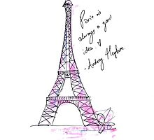 Hepburn's Paris by Emma Styles