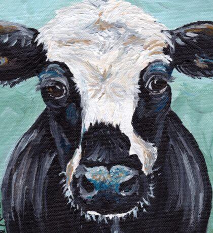 "Cow art, cow print ""Maybelline"" Sticker"