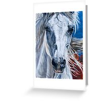 White Canyon Horse Greeting Card