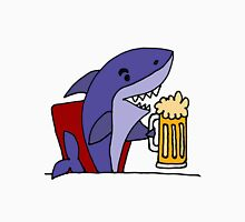 Cool Funky Funny Shark Drinking Beer Unisex T-Shirt