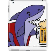 Cool Funky Funny Shark Drinking Beer iPad Case/Skin